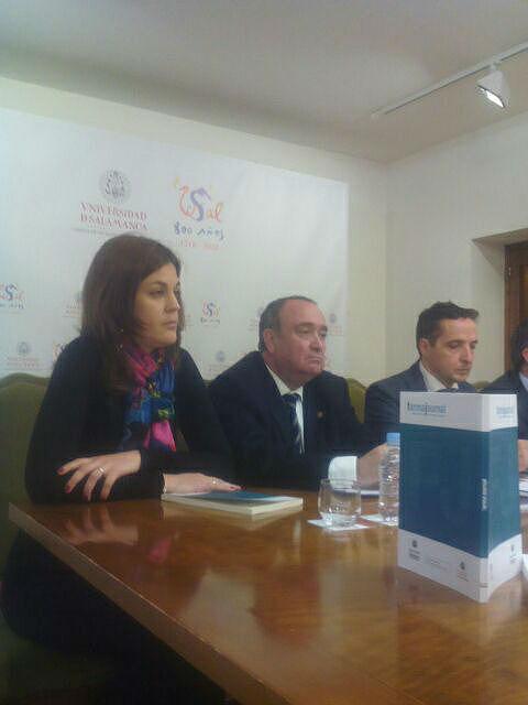 Raquel Álvarez Manzano, Juan Luis Gómez, Juan M. Corchado, Eduardo Azofra y Antonio Muro