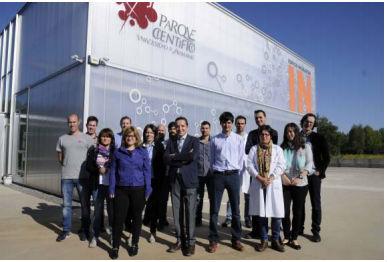 Representantes de las empresas biosanitarias del Parque Científico.