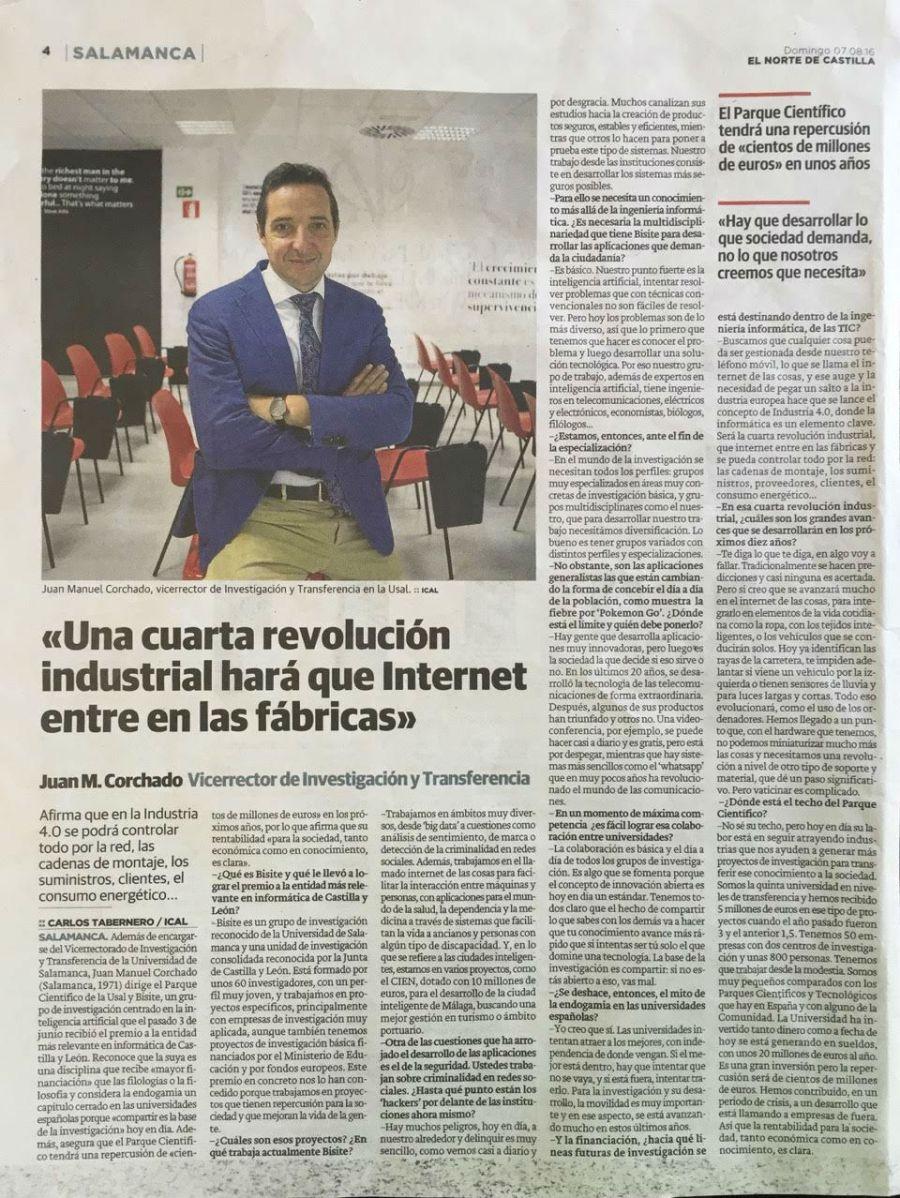 Entrevista El Norte de Castilla