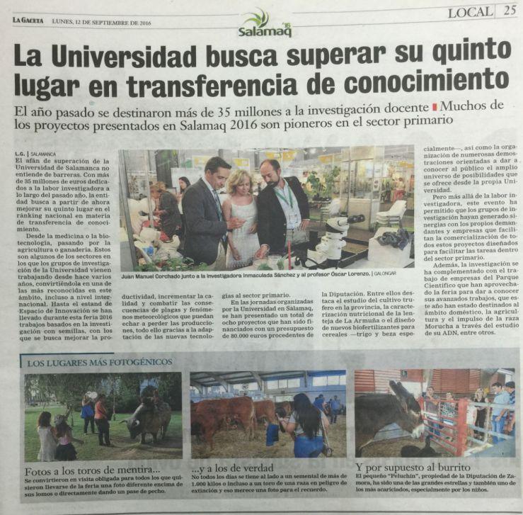 La Universidad busca superar su quinto lugar en transferencia de conocimiento.