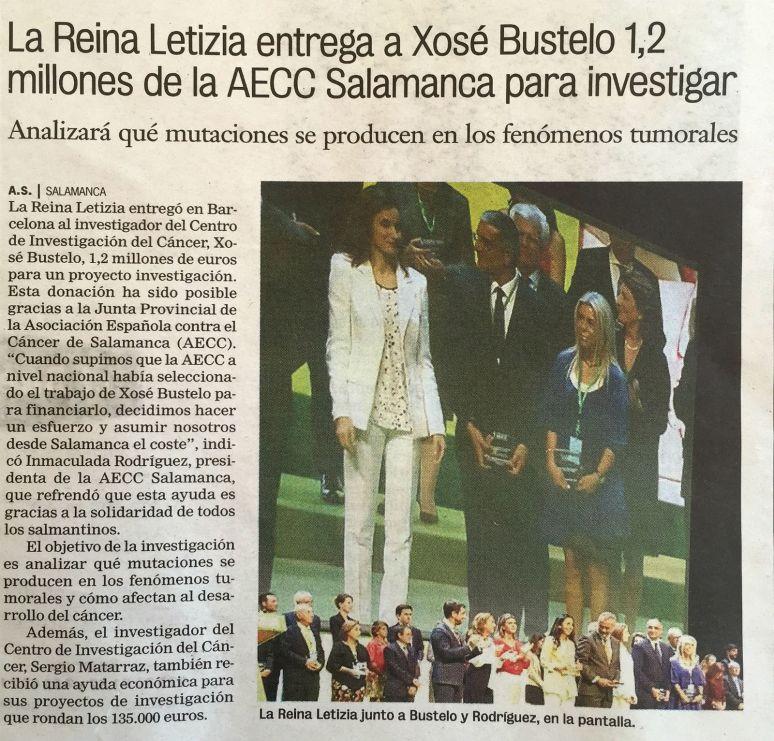 Xosé Bustelo recibe 1,2 millones de euros de la Reina Letizia