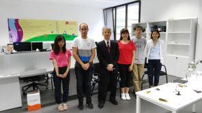 El Profesor Oshima con algunos estudiantes de OIT en BISITE