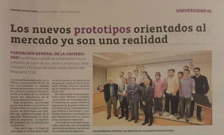 Noticia publicada en Tribuna Universitaria