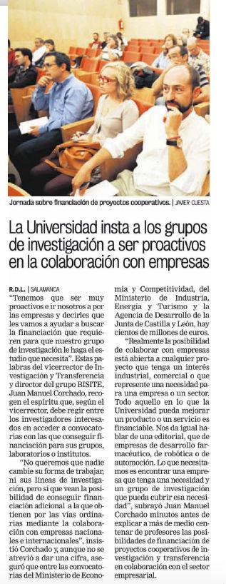 Noticia publicada en La Gaceta