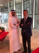 Con el Director de Comunicaciones del QSTP Mr. Khaled Hamad Al-Remithi