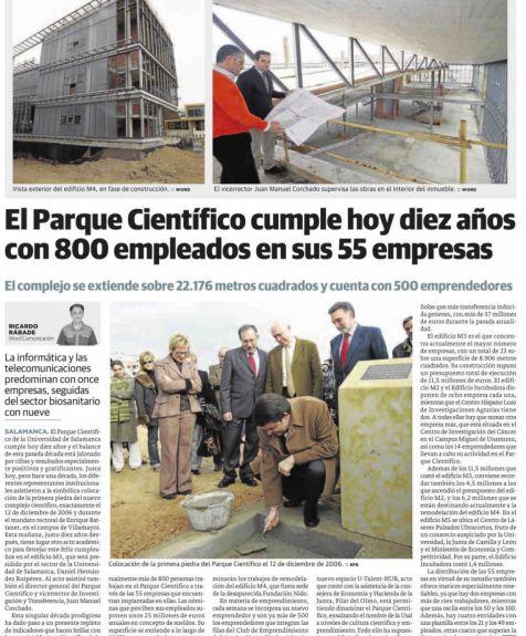 Reportaje El Norte de Castilla