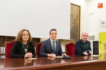 Con Pastora I. Vega y Ramón Villanova Foto:Salamanca RTV al Día