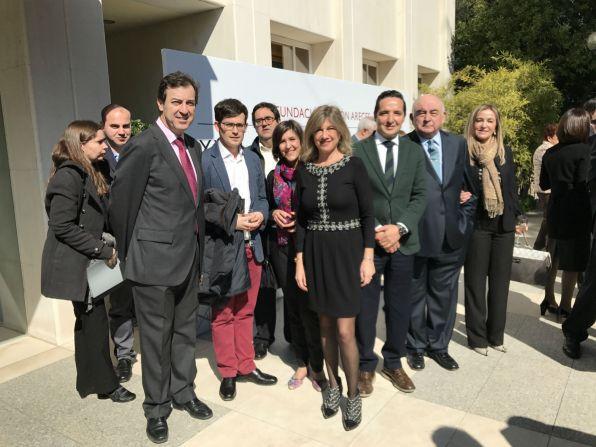 Junto a José María Medina, miembro del Jurado y algunos de los premiados